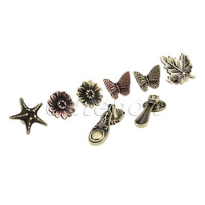 Antique Drawer Pull Knobs Retro Leaf Starfish Butterfly Cabinet Furniture Handle
