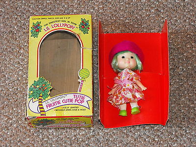 1980s Agglo Lil Lollypops Tutie Fruitie Cutie Pop Doll Complete in Box New