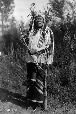 New 5x7 Native American Photo: Long Time Dog, Warrior of Hidatsa Indian Tribe