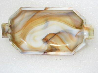 Killer Multi 9 Color Akro Agate Long Tab Ashtray / Signed