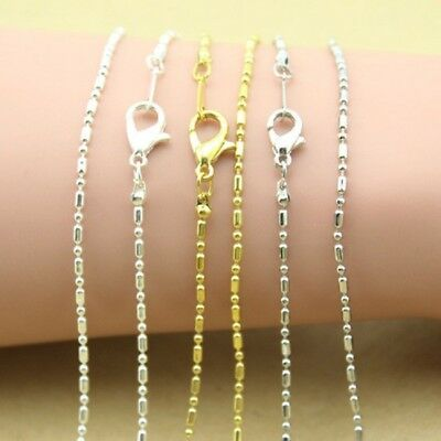 10pcs/lot 43cm Length Gold Silver Plated Bead Chains Fit Necklace DIY Making