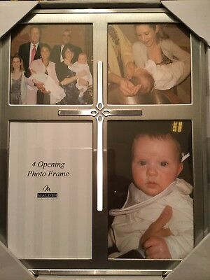 *New in Box* Malden Baptism Cross 4 Picture Frame