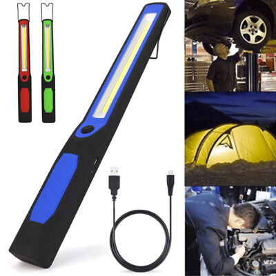 Rechargeable 2in1 LED+COB Camping Work Inspection Light Lamp Hand Torch Magnetic