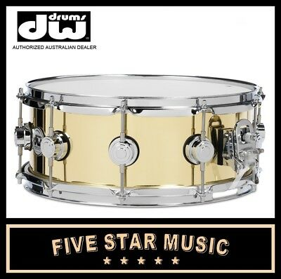 "DW COLLECTORS SERIES VINTAGE BELL BRASS 14"" x 5.5"" SNARE DRUM DRVN5514SPSC NEW"