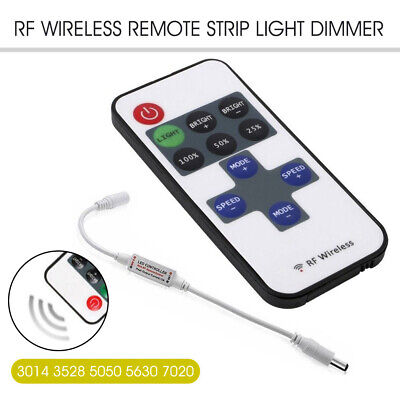 Remote Controller Wireless 12V RF LED Striplight Dimmer Switch Strip Light Bar