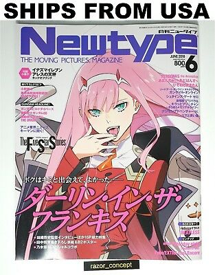 Newtype Magazine June 2018: Darling in the Franxx WITH BONUS ZERO TWO POSTER