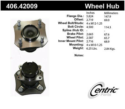 Wheel Bearing and Hub Assembly-Premium Hubs Rear Centric fits 07-12 Nissan Versa