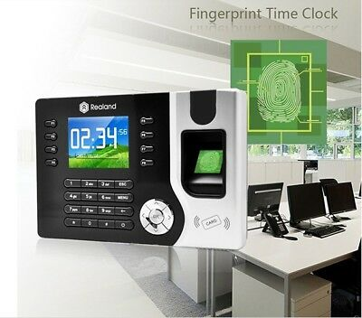 Biometric Time Attendance Tracking System Fingerprint Device ID USB ID Cards