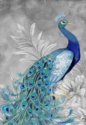 Art Wall Living room Decor Modern Feng Shui Peacock Print Oil painting Canvas 04