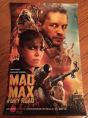 MAD MAX FURY ROAD rare promotional movie poster 17 x 11 Tom Hardy