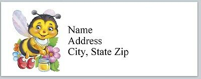 c 711 Personalized Address Labels Bees with honey pot Buy 3 get 1 free