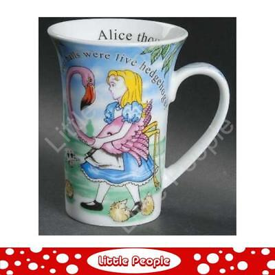 """New Paul Cardew Alice in Wonderland Mug Croquet Tall 5"""" Quote on the Inside"""