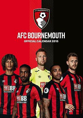 AFC Bournemouth Oficial 2018 A3 calendario de Pared Fútbol