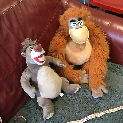 """Official Walt Disney Jungle Book plush King Louie and Baloo 16"""" With Tags BUNDLE"""