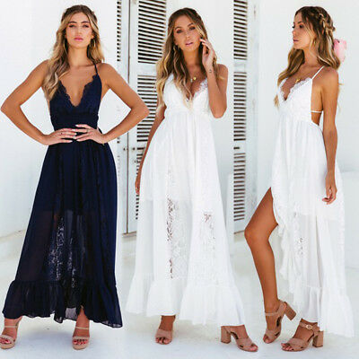 2ac1115e891 UK Womens Boho Long Kaftan Maxi Dress Bandage Bikini Cover Up Party Beach  Dress