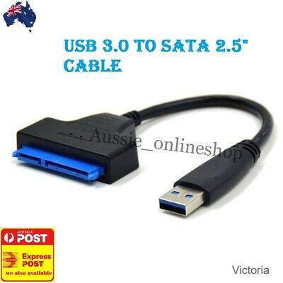 "SUPER USB 3.0 to SATA 2.5"" Hard Drive HDD SSD Adapter Converter Cable22 Pin SELL"