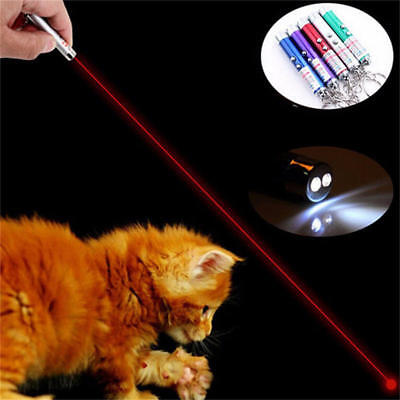 New  Pet Dog Cat Laser Lazer Light Fun Training Pointer Torch LED Toys AU
