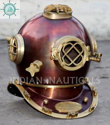 Morse Us Navy Mark V Solid Steel & Brass Special Antique Diving Helmet Gift Item