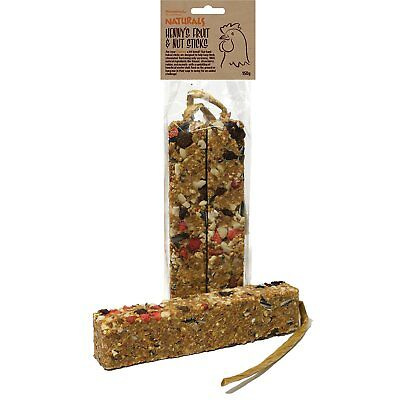 7 x Damaged Naturals Hennys Fruit and Nut Sticks for Chickens 150 G by Rosewood