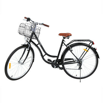 "24"" 6 vitesses léger adultes tricycle Adulte Tricycle 3 Roues Vélo +2 paniers"