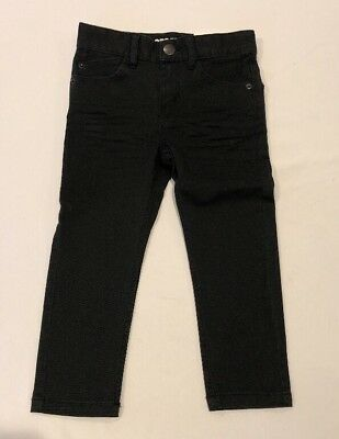 New Boys H&M Stretch Black Jeans Pants 2-3Y Slim
