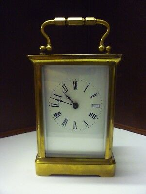 Victorian Brass Carriage Clock In Good Working Order