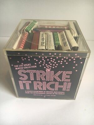 Strike it Rich Box of Matches Vintage with Dice UNUSED Las Vegas Casino