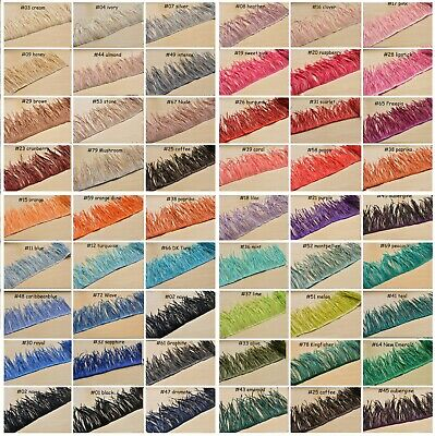 51 Colors Goose Biot Feather Trim Fringe For Millinery Fascinator Hat Craft Gown