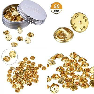 50 Pieces Pins Keepers Backs Locks Pin Locking Clasp Replacement No Tool Requird