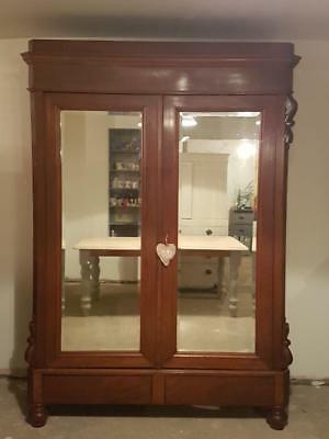 Antique French Armoire wardrobe.completely comes apart