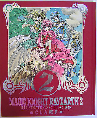CLAMP ARTBOOK IMPORT Magic Knight Rayearth 2 Illustrations Collection RARE ANIME