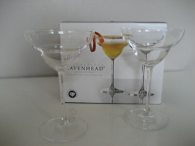 Ravenhead Finesse Lead Free Crystal Cocktail glasses 23cl (set of 2)