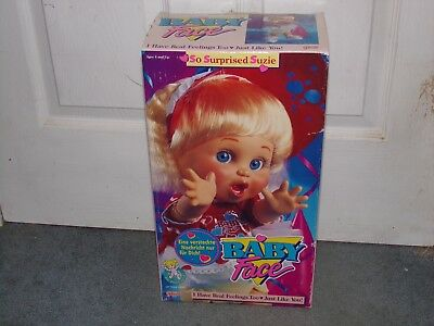 "BABY FACE ""So Surprised Suzie"" Doll GALOOB (1990) Mint in Box"