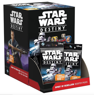 Star Wars Destiny: Spirit of Rebellion Booster Box:  Dice and Card Game, Sealed