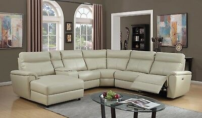 Outstanding Recliner Sectional Sofa W Console Beautiful Plush Cushioned Pdpeps Interior Chair Design Pdpepsorg