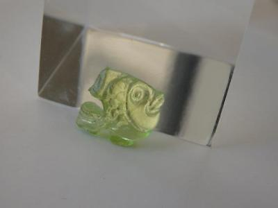 FISH lime green VENETIAN CAMEO*Marina Collection*Loose unset TAGLIAMONTE