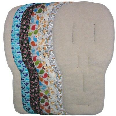 Jillyraff Reversible Seat Liners - fit Bugaboo pushchairs - lambs fleece Designs