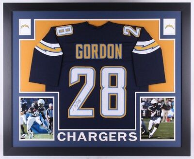 6d19a2eb CHARGERS MELVIN GORDON Signed Color Rush F/S Speed Rep Helmet BAS ...
