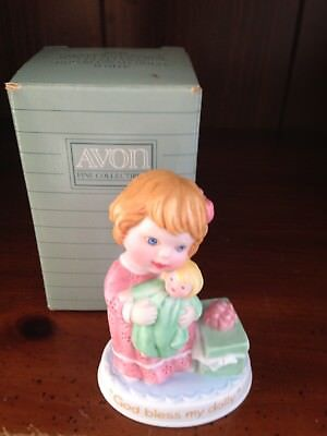 "Avon Tender Memories Porcelain Figurine Collection ""god Bless My Dolly"" Nib"