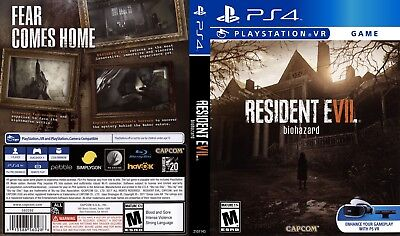 Resident Evil 7 Biohazard (Playstation 4 Ps4) Replacement Case