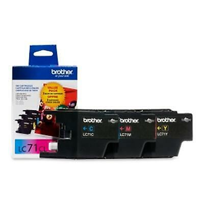Brother LC713PKS Ink Cartridges 300 Page Yield 3-Pack Cyan Magenta Yellow