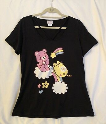 New & Limited Edition Pusheen Cat X Care Bears Japanla Strappy Tee T Shirt Xl !