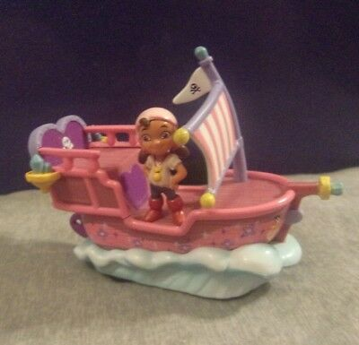 Jake and the Never Land Pirates IZZY Pullback Toy Boat with Sounds EUC