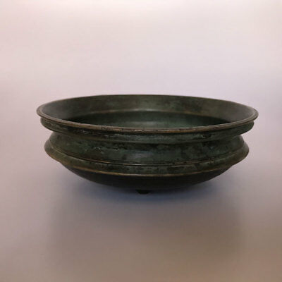 17th C old or antique Bronze / bell metal urli or rice / flower bowl collectible
