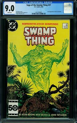 SWAMP THING #37 CGC 9.0 1st full appearance of John Constantine! White pages!