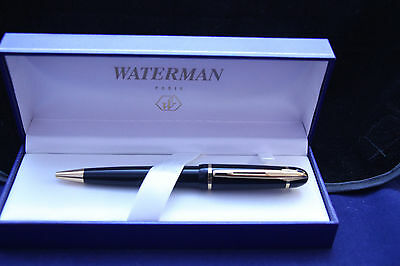Waterman Phileas Ballpoint pen in Box,Solid black GT NICE, LOOK !!!!