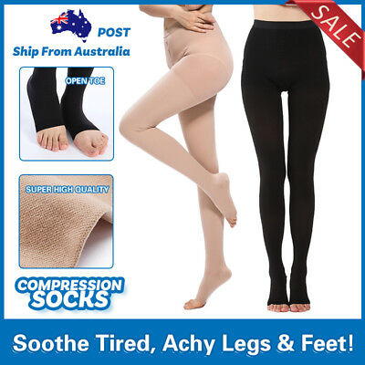 Medical Compression Pantyhose Stocking Support Tights Flight Travel Sock Level Ⅱ