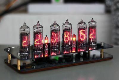 NIXT CLOCK - IN-14 NIXIE TUBE CLOCK PCB Soldered With Power Remote RGB LED