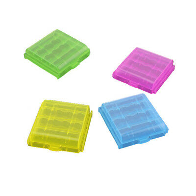 10 Pcs Clear Case Cover Holder Plastic Battery Box Storage For AA AAA Batteries