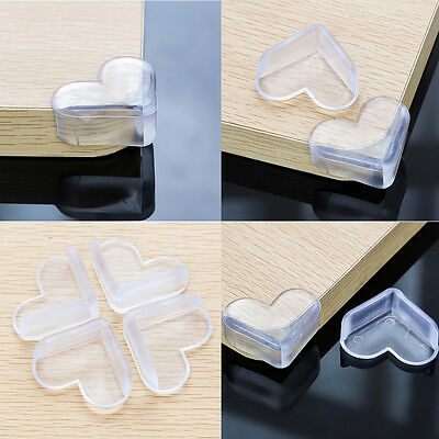 4X Child Baby Safe silicone Protector Table Heart Corner Edge Protection SE